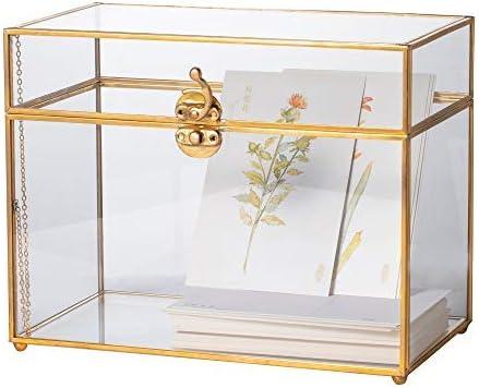 NCYP Caja de Cristal para Tarjetas, terrario geométrico Grande ...
