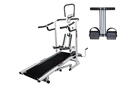 Lifeline 4 in1 Deluxe Treadmill Machine for Walking and Jogging at Home|Bonus Tummy Trimmer for Stomach Exercise