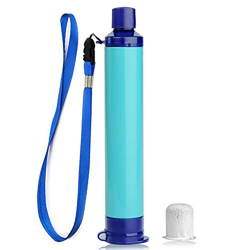 Membrane Solutions Portable Water Filter Straw Filtration Straw Purifier Survival Gear for Drinking, Hiking, Camping, Travel, and Emergency