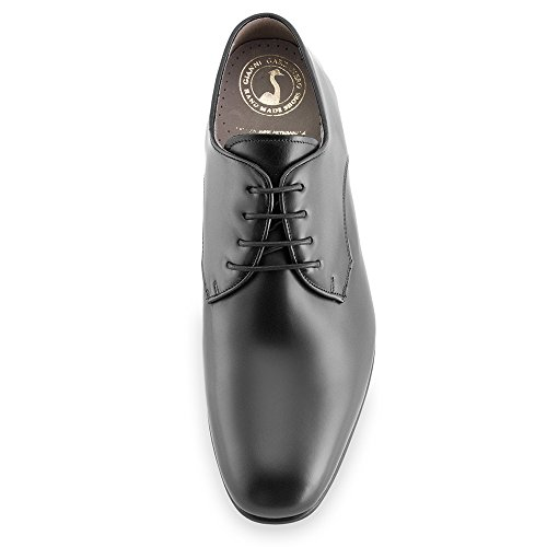 Height Increasing Shoes for Men. Be Taller 7 cm / 2.75 inches. Model Gala Black Size 40