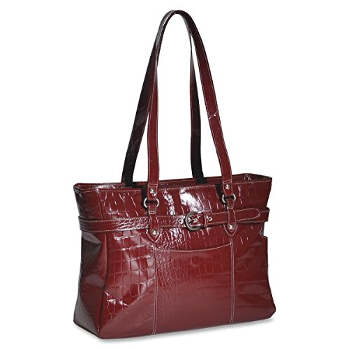mcklein-35266-siamod-monterosso-carrying-case-tote-for-154-inch-notebook-red-leather