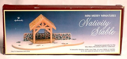 Hallmark Mini Merry Miniatures 1988 Nativity Stable (Nativity Stable Small)