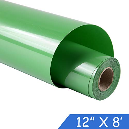 guangyintong Adhesive Heat Transfer Vinyl for T-Shirts 12 x 8ft Roll Glossy (k20 Light Green)