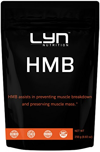 Premium Pure HMB Powder, 250 Gram, Non-GMO, Promotes Protein Synthesis, Muscle Growth, Improve Power Output