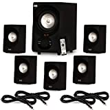Acoustic Audio AA5171 Home Theater 5.1 Bluetooth Speaker System with FM and 4 Extension Cables