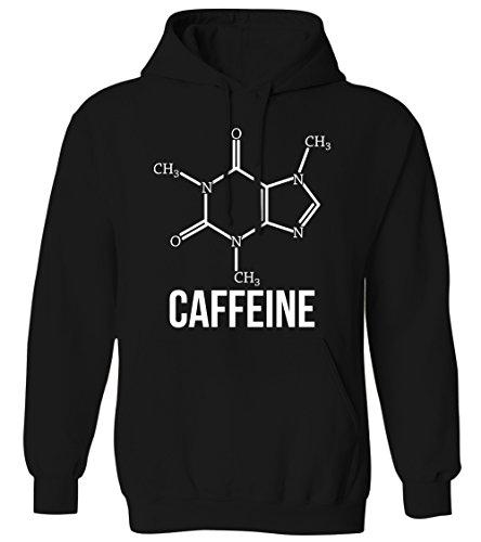 - Caffeine Molecule - Coffee Addict Chemistry Nerd Geek Mens Hoodie Sweatshirt (Black, X-Large)