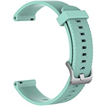 Large Replacement Silicone Rubber Bands Watch Straps - Choice of Color Width (20mm) - Premium Accessory Wristbands Colorful Sports Bracelet Comfortable Flexible Flex Watch Bands, 1pc G
