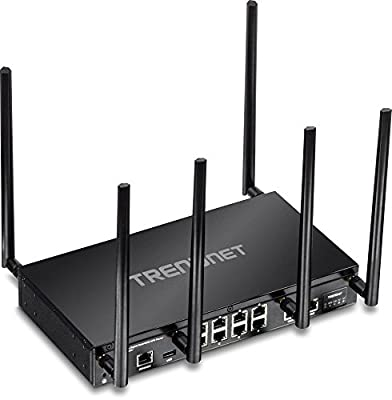 TRENDnet AC3000 Tri-Band Wireless Gigabit Dual-WAN VPN SMB Router, MU-MIMO, Wave 2, Router Limits, QoS, Inter-VLAN routing, TEW-829DRU