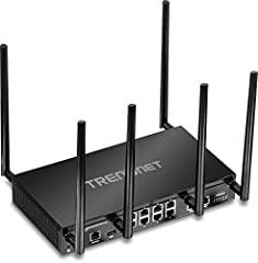 TRENDnet's AC3000 Tri-Band Wireless Gigabit Dual-WAN VPN SMB Router, model TEW-829DRU, features three concurrent WiFi bands to maximize device networking speeds: two separate high performance 802.11ac networks (5GHz1: 1733Mbps / 5GHz2: 867Mb...