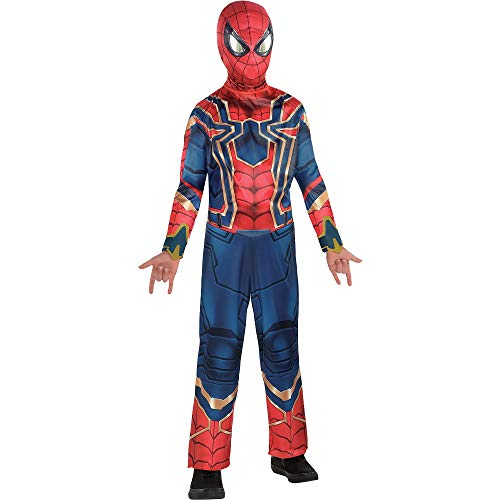 Costumes USA Avengers: Infinity War Spider-Man Iron Spider Costume for Boys, Size Small, Includes a Jumpsuit and More