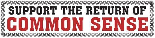 Support the Return of Common Sense; Bumper (Support De Plaque)
