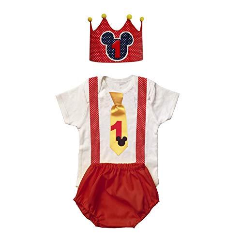 Conjunto bebe niño primer / 1er cumpleaños 1 año/INCLUYE: Body o ...