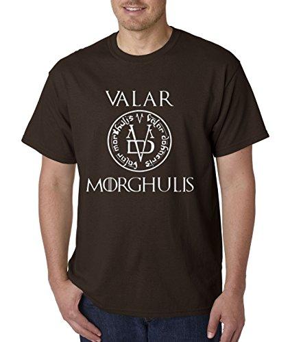 (New Way 170 - Unisex T-Shirt Valar Morghulis All Men Must Die Valyrian Game Of Thrones 4XL Dark Chocolate)