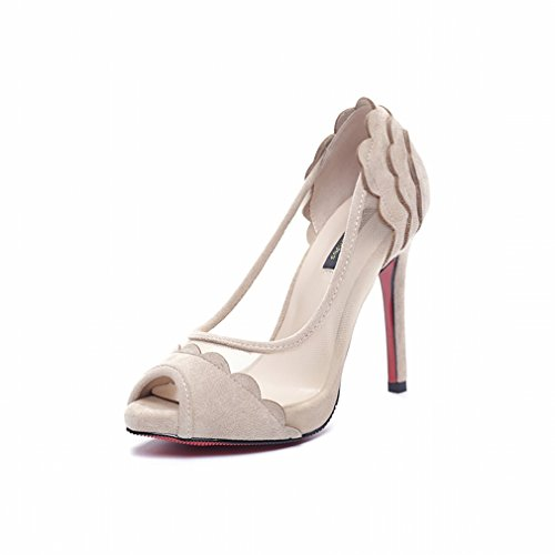 Zapatos de Tacón Alto con Gasa Delgada a Prueba de Agua Zapatos de Mujer Sex Segundo