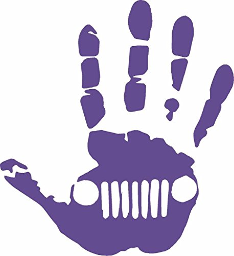 Jeep wave hand sticker vinyl decals Jeep wrangler cj for sale  Delivered anywhere in USA