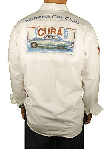Bacchi Habana Car Club Long Sleeve Shirt White