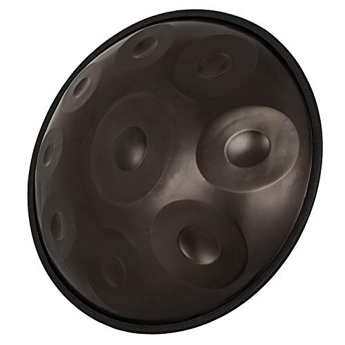 Happybuy Handpan In D Minor 9 Notes 22 inches Steel Hand Drum with Soft Hand Pan Bag Hand Pan Steel Drum 2 (22″ (56cm) Brown (d Minor) 9 Notes (d3 A Bb C D E F G A)