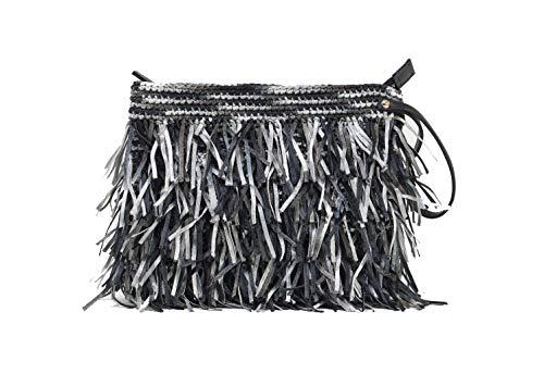 Woven Unique amp; Handmade Design Bag Asena Alex Grey Colors Clutch Black 6qESxwHRw