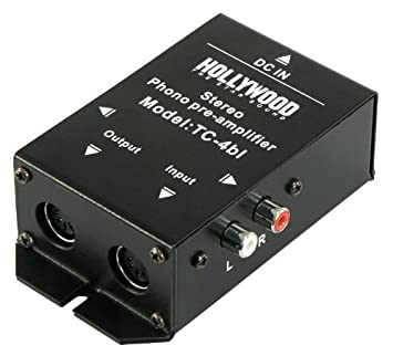 Phono de amplificador de Hollywood TC 4bl, Negro, Stereo, anschl. RCA o