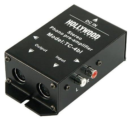 Phono de amplificador de Hollywood TC 4bl, Negro, Stereo, anschl ...
