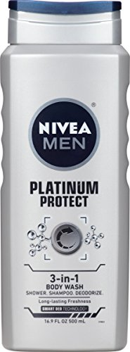 Price comparison product image NIVEA Men Platinum Protect 3-in-1 Body Wash 16.9 Fluid Ounce