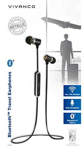 Vivanco TRAVELLER AIR 4 - Auriculares (Inalámbrico, Dentro de oído, Binaural, Intraaural, Negro): Amazon.es: Bricolaje y herramientas