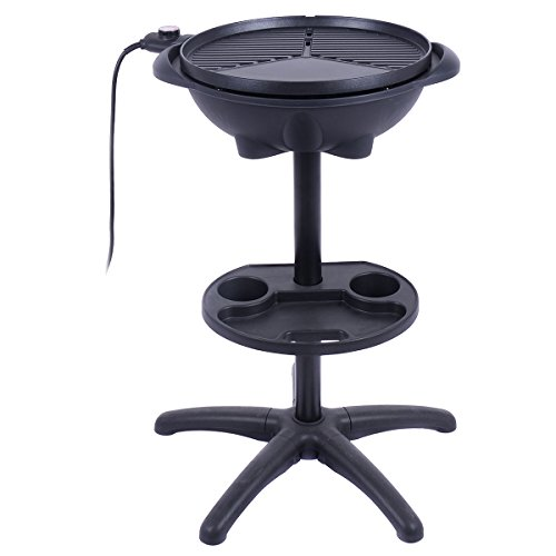 DPThouse 1350W Indoor/Outdoor Grill Electric BBQ Grill w/...