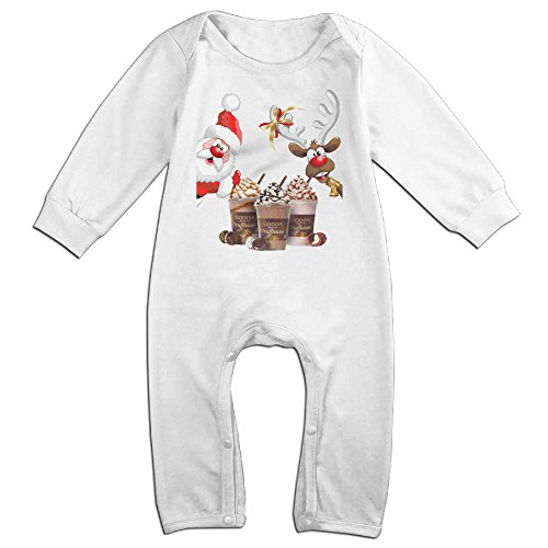 [VanillaBubble Santa Claus And GODIVA For 6-24 Months Baby Best Baby Climbing Clothes White Size 6 M] (Barney Infant Costumes)