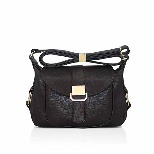 NICOLE & DORIS bolso de moda para la mujer popular señoras bolso de hombro moderno bolsa de mano bolso de Crossbody Marrón Marrón B