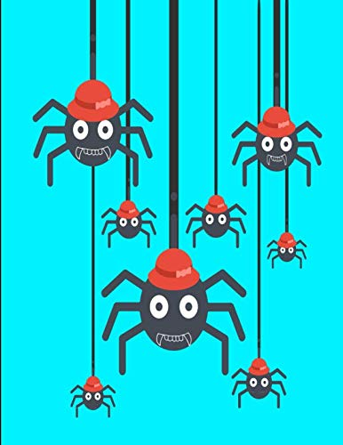 Creepy Spiders Funny Red Hats Notebook Journal 120 College Ruled Pages 8.5 X 11 ()