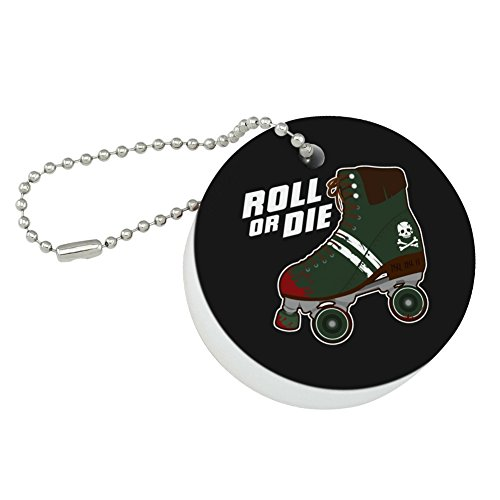 Graphics and More Roller Skates Derby Roll Or Die Combat Boots War Punk Round Floating Foam Fishing Boat Buoy Key Float (Lifeguard Roll)