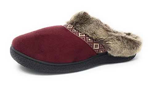 Picture of Isotoner Womens Microsuede Angela Hoodback Slipper (Large (8.5-9))