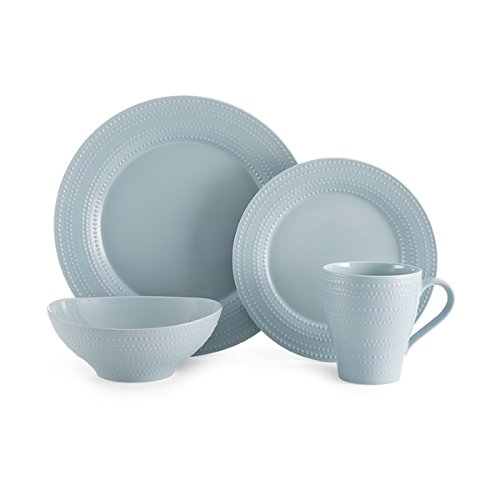 Mikasa Ryder Blue Earthenware 4-piece Place Setting Casual Dinnerware Set