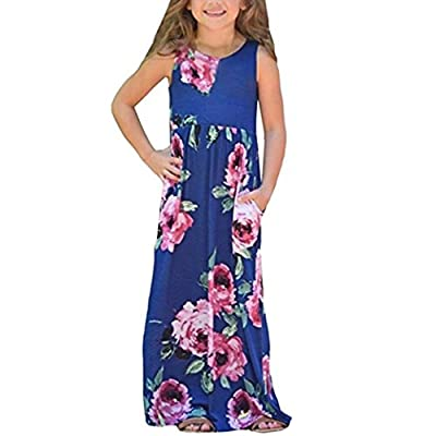 Girls Dresses, Floral Dress for Toddler Baby Girls Kids Party Beachwear Outfits Sundress by WOCACHI