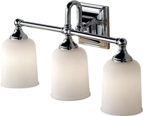 Feiss VS27003-CH Harvard Glass Wall Vanity Bath Lighting, Chrome, 3-Light 21 W x 10 H 300watts