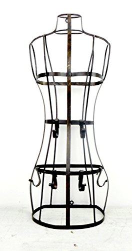 Large Wall Mounted Dress Form with Adjustable Hooks, 22