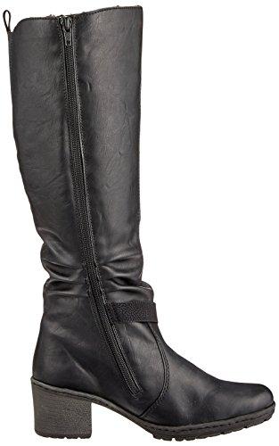 Bottes Femme Y8854 Schwarz Rieker Schwarz Noir Noir E5qv88w
