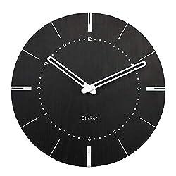 CZYCO Wooden Creative Wall Clock Modern Minimalist Living Room Silent Clock