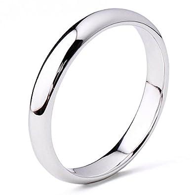 Goldring breit herren  Gowe 4 mm breit Band Echt 14 K Weiß Gold Ring, gold Hochzeit Band ...