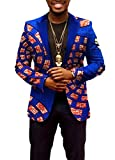 ainr Mens Fashion African Prints Long Sleeve Casual Dashiki Blazer Suit Jackets 16 XL
