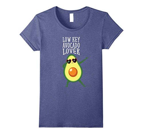 Womens Low Key Avocado Lover Dabbing T-Shirt Medium Heather - Love Culture Sunglasses