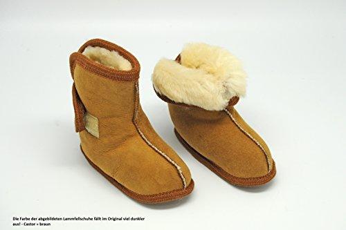 Rökü Baby Lammfellschuhe / Lammfellstiefel Castor (18/19)