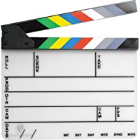Pearstone Acrylic Dry Erase Clapboard with Color Sticks (9x11 inches)
