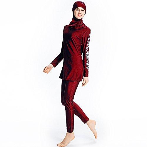 Beachwear Hijab Musulmana Red Completa Burkini Bagno Musulmano Swimwear  Donne Copertura Tuta Da Da Costume Bagno Sc 1 Th 225 d65f2b886ab9
