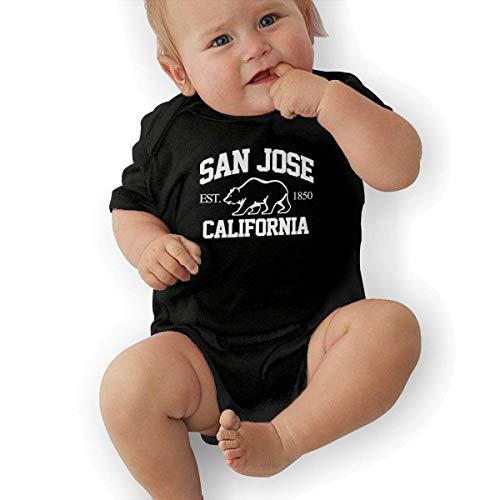 FAMURR Little Girl&Boy Toddler San Jose Cotton Crew Neck Short Sleeve T-Shirt Tops Black]()