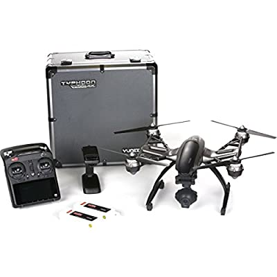 Yuneec Typhoon Q500 4K Quadcopter with CGO3 4K 3-Axis Gimbal Camera, Steady Grip, 2 Li-Po Batteries and Aluminum Case, ST10+ Transmitter - With 2x 5400mAh 3S 11.1V Li-Po Battery, 64GB MicroSDXC CARD
