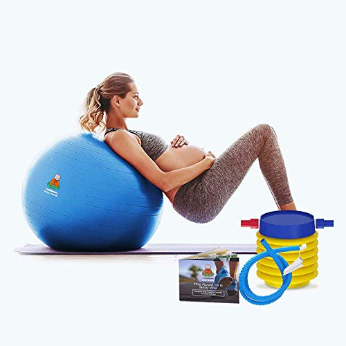 Exercise Ball Clearance Random 55cm / 65cm, Random Black / Blue Color – Fitness Desk Sitting Chair, Pregnancy Ball Anti…