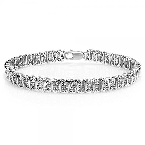 050-Carat-ctw-Sterling-Silver-Real-Round-Cut-Diamond-Ladies-Tennis-Bracelet