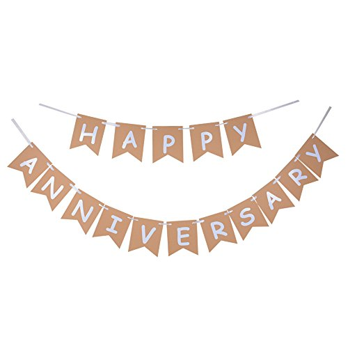 (Happy Anniversary Banner, Wedding Anniversary Sign/Photoprops)