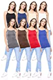 Free to Live 8 Pack Women's Premium Seamless Basic Layering Camis Tank Tops